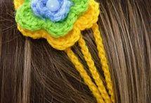 Tiaras de flores crochê