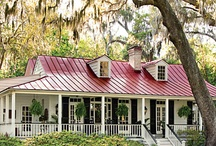 Red Metal Roofing from Commercial use to Homes / Red Standing Seam Metal Roofing is widely used. Here it will be showcased from commercial to hideaway cottages.