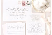 Wedding Paper / We love a good invitation suite because it's the first thing your guests see about your wedding! Save the dates, invitations, RSVP cards, custom postage - all of these elements set the tone for how amazing your wedding will be!   www.beckysbrides.com | Birmingham, Alabama | Wedding Planner | Becky's Brides