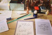 ❥ workshop handlettering pictures