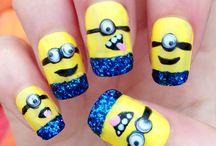 paznokcie w minionki