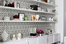 Decorating with bookshelves / by Indra Caudle