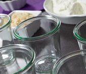 kuchen und Küche im Glas