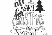 Handlettering - Kerst