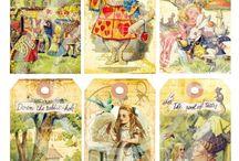 Alice Inspiration / Designing Alice In Wonderland Cards