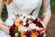Букет Невесты Марсала