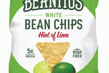 Beanitos / All natural snack chips made from beans--high in fiber and protein--and contain no GMOs, MSG, trans fat, corn, or gluten!  https://savorfull.com/brand/beanitos/