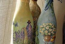 Υπέροχα μπουκάλια ντεκουπαζ