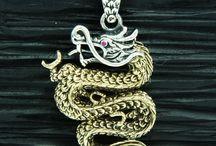 Dragon Biker pendant