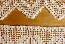 cortinas crochê