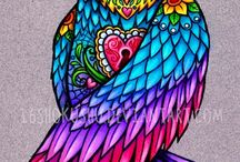 OWLS / to make...to look at....to draw...to sew...and so forth / by Lisa Siler