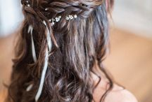 Bridesmaid wedding hair