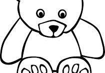 kreslene medvede