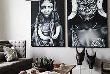 Afrika inspirerad inredning