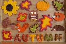 Fall and Autumn Decorated Cookies / Cut out cookies