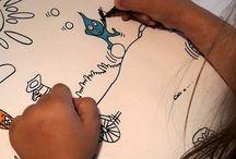 COLORIAGE / Set en papier à colorier par vos chérubins  Set A3