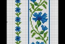 Korssting / Blomster