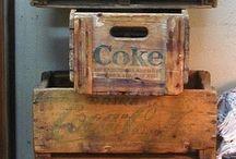 Trälådor vintage boxes