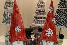 Papierové pletenie - Vianoce
