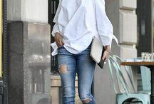 skinnies blouse/ shirt flats