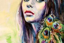 2. Portrait Acryl & Öl