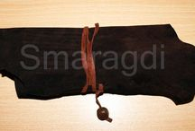 Leather bags handmade by Smaragdi. / leather,metal,handmade deco