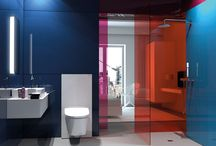 Bathroom Designs - Mixed Materials / Mixing materials in the bathroom is a key trend for 2017.