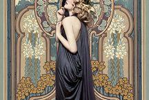 Art Nouveau style. Alphonse Muchа and other... / Стиль Арт - Нуво. Альфо́нс Мари́а Му́ха и другие...