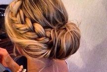 wedding hair - bridesmaid