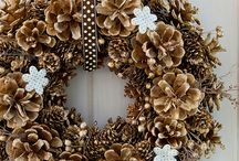 pine cone crafts / by Beth Kobiske