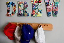 Xander's super hero room / by Simply Stavish