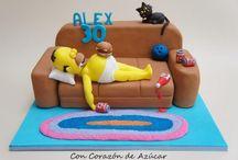tortas con los Simpson