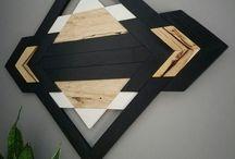 Arte de la pared de madera