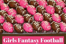 Girls Fantasy Football Draft Party / Your one stop shop for all things Girls Fantasy Football! Looking to host a draft party and don't know where to start? Save some of these DIY craft and party decor ideas as well as food and drink recipes!