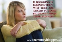 Money Blogging / A money blog www.beamoneyblogger.com about how to make money by selling products of Affiliates, your own and referral products through banner ads, product reviews and affiliate based contents.