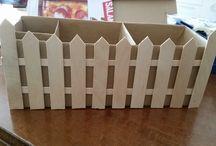 porta trucchi cartone e legno