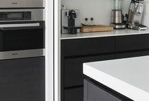 Kitchen with pocket door