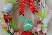Easter Wreath  Coronita Paște / coronițe decorate manual