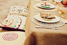 TABLE / Make the table interesting - colours & patterns