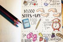 Weight loss bullet journal ideas