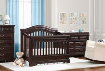 - Castlebrook Nursery Collection - / Timeless espresso finish nursery collection featuring a 4-in-1 convertible crib, a double dresser, dresser topper, nightstand, chest, and bookcase. All pieces sold seperately.