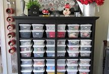 Sewing/Craft Room Ideas / Organization ideas and etc for sewing rooms / by Leslie Trotter