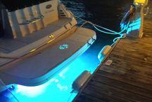 Transom Mounted LED Lights