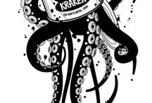kraken bianco nero