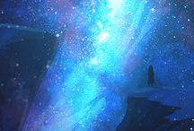Take me to the stars / Você soprou galáxias em minha mente. Agora eu sonho com as estrelas.