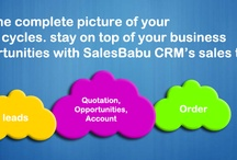 SalesBabu Business Solutions / Our specialized and focused approach on Sales Management with robust SaaS based CRM Solutions facilitates Small & Medium Enterprise (SMEs) businesses owners to manage their core operations efficiently with a better & result oriented approach on Sales Management. Excellent Sales CRM and After Sales Service CRM for Manufacturing, Medical Devices & Lab Equipments, Sales & Distribution, Retail, Travel,  Education, Real Estate, Call Center, Pharmaceutical, and Chemical Industries.