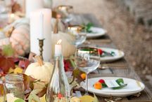 Fall tablescapes and centerpieces / Creative ideas for a lovely table setting