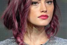 dark root violet hair