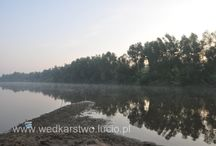 San river in Poland / Fishing on the San River in Poland