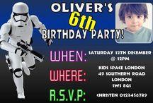 Star Wars Birthday Party Invitations / Star Wars Birthday Party Invitations